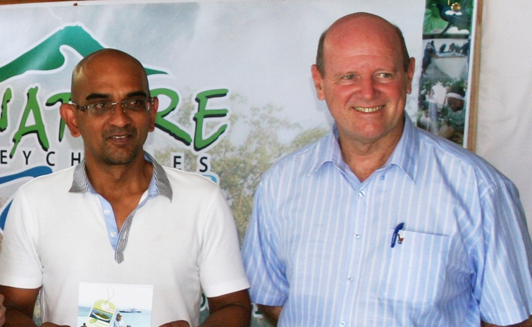 Face Time with Minister Alain St Ange on beach and hotelaccess